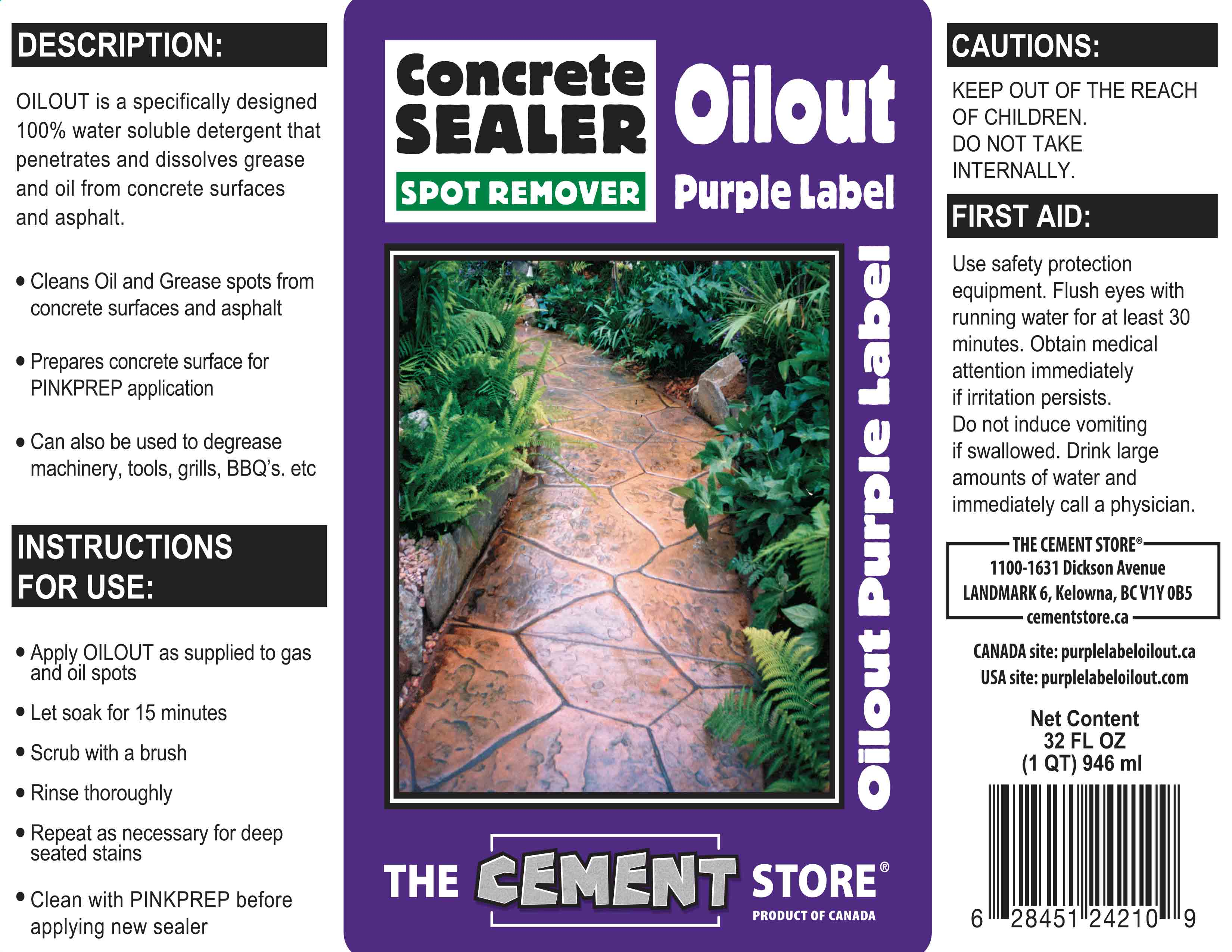 THE CEMENT STORE PURPLE LABEL OIL OUT APPLICATION TIPS