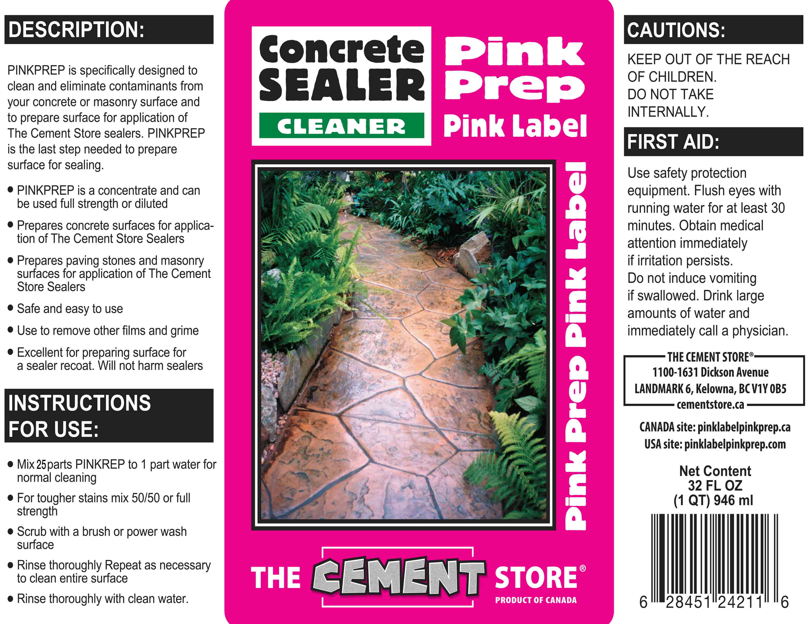 THE CEMENT STORE PINK LABEL PINKPREP APPLICATION TIPS