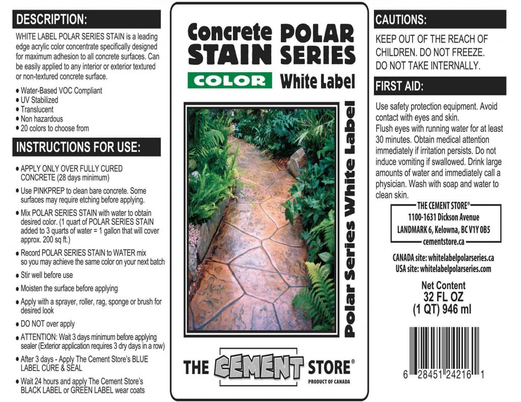 THE CEMENT STORE WHITE LABEL POLAR SERIES APPLICATION TIPS